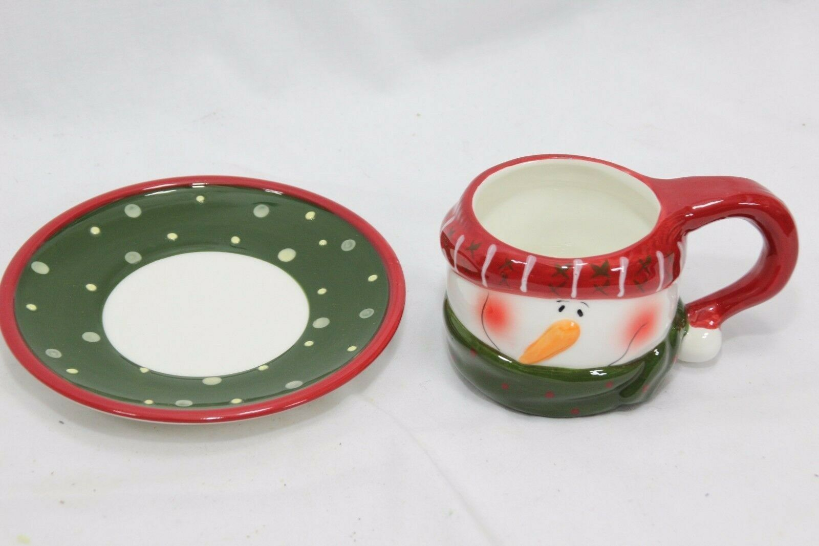 Snowman Xmas 4 Cups and 4 Saucers image 7