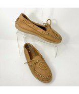Minnetonka Womens Leather Moccasins, Size 8, Brown, Soft Supple Leather - $23.05