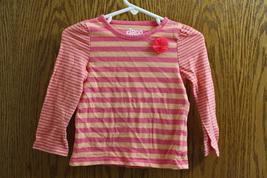 Circo Pink and Orange Striped Girls Long Sleeve T-Shirt - Size 18 Months - $8.99