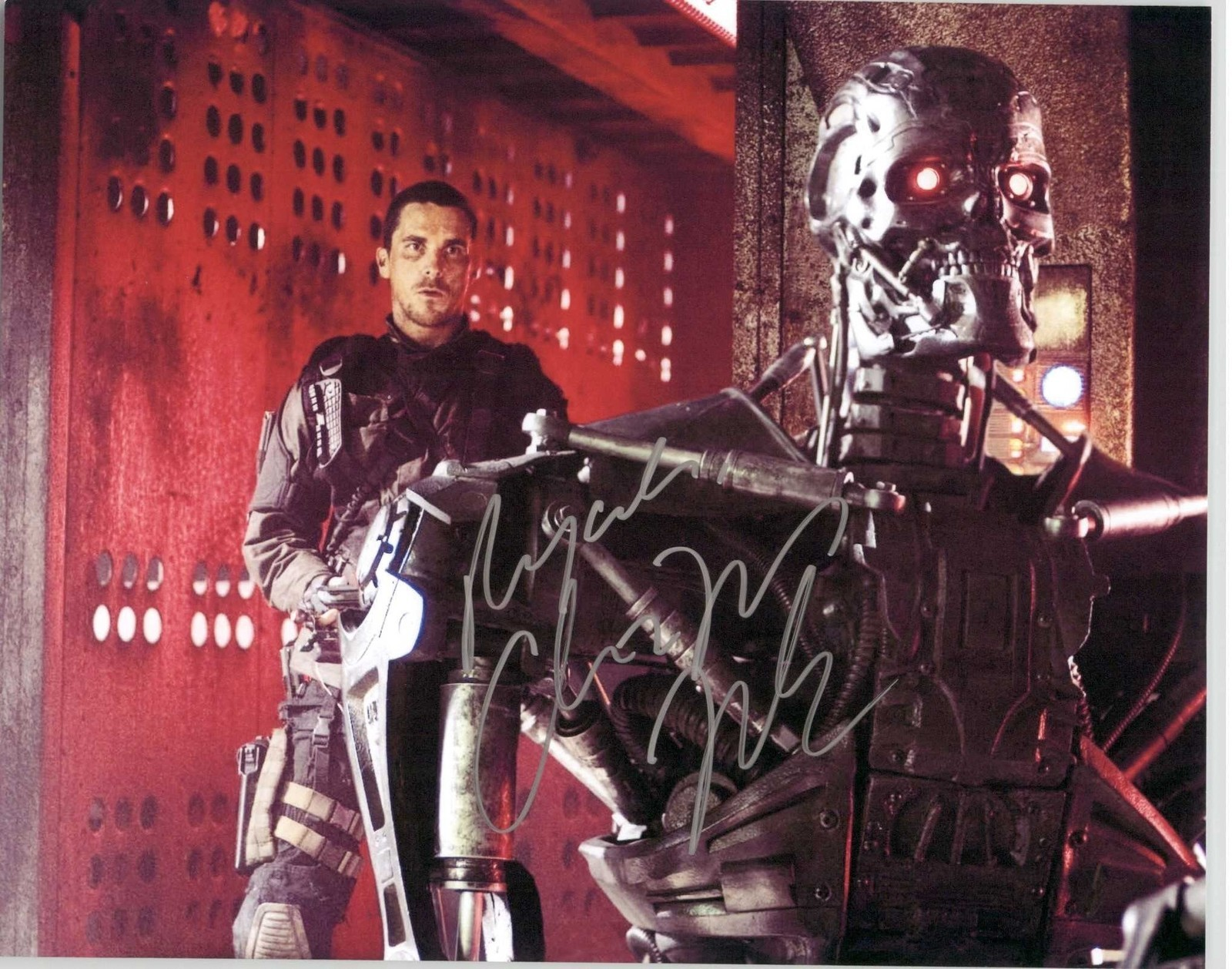 "Primary image for Christian Bale Signed Autographed ""Terminator"" Glossy 8x10 Photo"