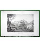 ITALY Alps Valley of Merano & Castle Tyrol Tirolo - SCARCE 1836 Antique ... - $26.01