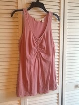 Vintage DKNY Jeans Women's Knit Top Sleeveless - Size M - Pink - $8.85