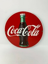 Vintage Coca Cola Porcelain Enameled Advertising Sign Ande Rooney USA Ma... - $39.59