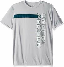 Under Armour Boys Grey UV Wordmark Short Sleeve T Shirt Small New 1342071 - $17.81