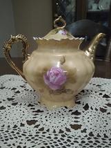 Vintage Heritage Brown Floral Lefton Tea Pot - $100.00