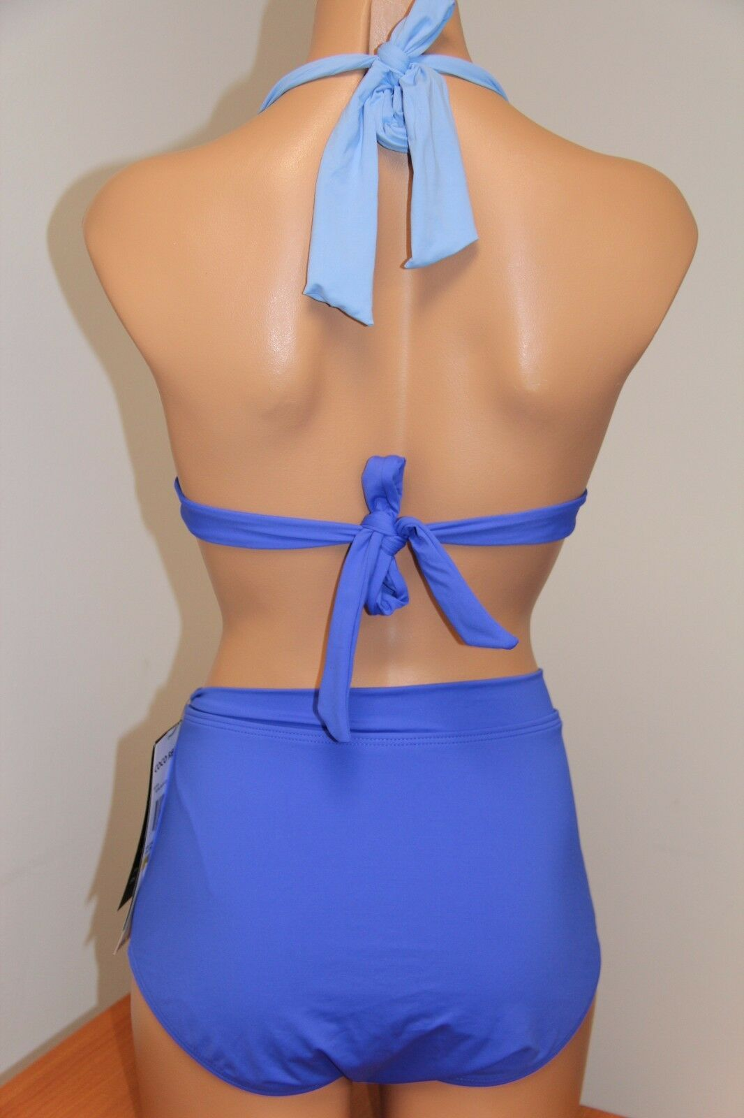 NWT Coco Reef Swimsuit Bikini 2pc set Sz M 32/34C Halter Bra Power Royal Blue
