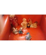 "Lot of (9) Porcelain Vintage Small Dolls 6 dolls + 3 Clowns  Sizes 9"" - ... - $9.89"