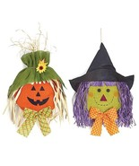 Pumpkin and Witch Head Burlap Wall Hanging Set - $23.95
