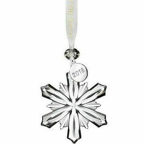 "NEW Waterford Lighting Up The Season 2018 Mini Snowflake Ornament 2.5"" 40031773"