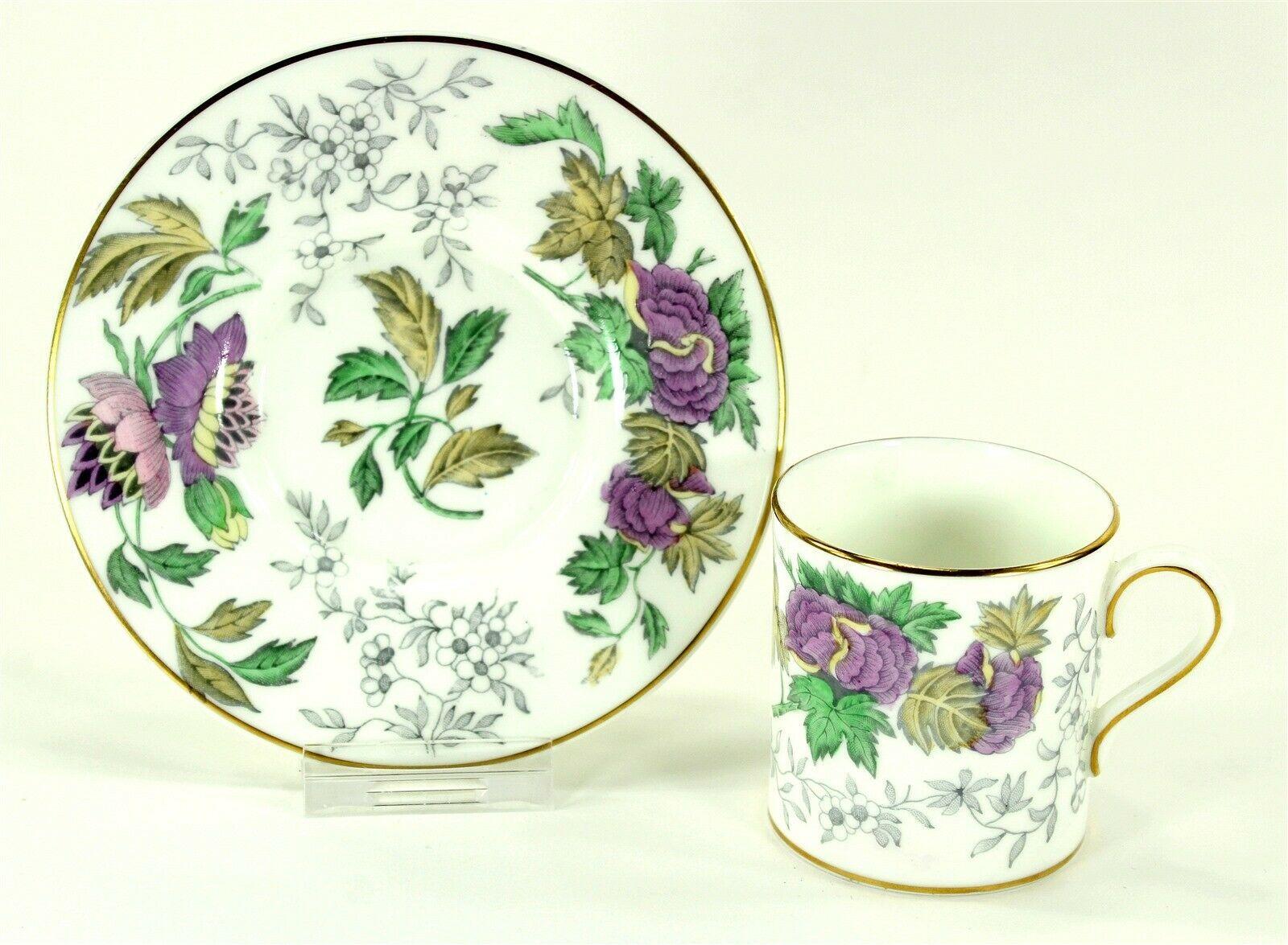 Wedgwood Avon 3983 Flat Demitasse Cup and Saucer, Bone China Lavender Floral