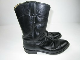 Justin Roper Boots 3133 Oil Resistant Black Leather Men's Size 9 E Wide ... - $46.40