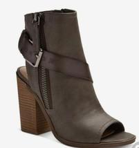 Dolce Vita Teisha Grau Schnalle Blockabsatz Stiefel Nwt
