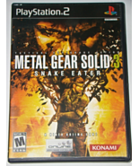 Playstation 2 - METAL GEAR SOLID 3 - SNAKE EATER (Complete with Manual) - $10.00