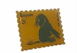 Walt Disney Collector Pin Winnie Pooh button pinback gold Stamp Eeyore O Brother - $19.25