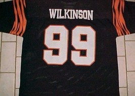Dan Wilkinson #99 Cincinnati Bengals Logo 7 AFC Black Orange Jersey XL 50-52 - $49.49