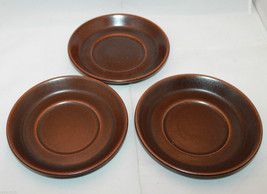 Wedgwood Sterling Brown 3 Saucers Only Made in England Oven to Stove AS-IS - $32.87