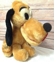 "Walt Disney Pluto Plush Made In Korea 11"" Stuffed Shredded Clippings 1970s  - $22.76"