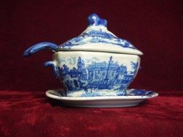 "Royal Arms"" mark,Victoria Ironstone 4 pc Soup Tureen, Underplate, Lid + ... - $123.75"