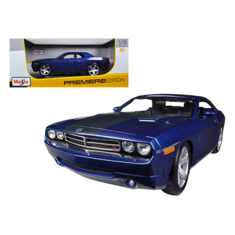 2006 Dodge Challenger Concept Blue 1/18 Diecast Model Car by Maisto 36138bl
