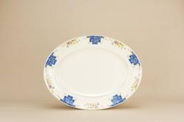 Vintage Oval Floral Serving PLATTER Dinner Arth... - $51.30