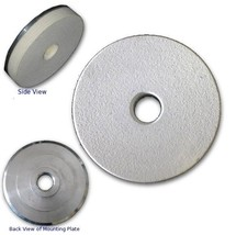 "3"" White Resin PAD with 5/8""-11 Threaded Adapter Mount,For Stone Final Polishing - $26.53"