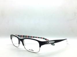 Oakley Authentic 52mm Eyeglasses Demo Lenses 139 OX1062-0152 Black Peppermint - $73.38