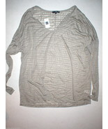 New Womens Gap Rayon Burnout LS Top XL Light Brown Tan Long Sleeves Soft... - $24.80