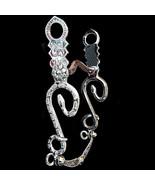 Vintage Sterling Silver Rattlesnake Snake Shank Low Curb Western Bridle Bit - $495.00