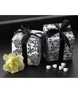 264 Black White Damask Mint Candy Bridal Wedding Favor Boxes w/Satin Ribbon - $78.80