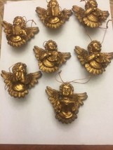 Lot Of 7 New GOLD Angel Christmas Ornaments - $11.83