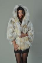 Golden Fox Fur Cape Hooded Brand New Women's Handmade MEXA - $693.00