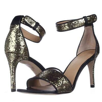 Primary image for Marc Marc Jacobs M9000039 Ankle Strap Dress Sandals Black/Gold 6US/36EU Display