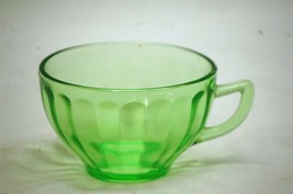 """Vintage 1930's Hostess Green by Federal 2-3/8"""" Cup Depression Glass Wide... - $8.90"""