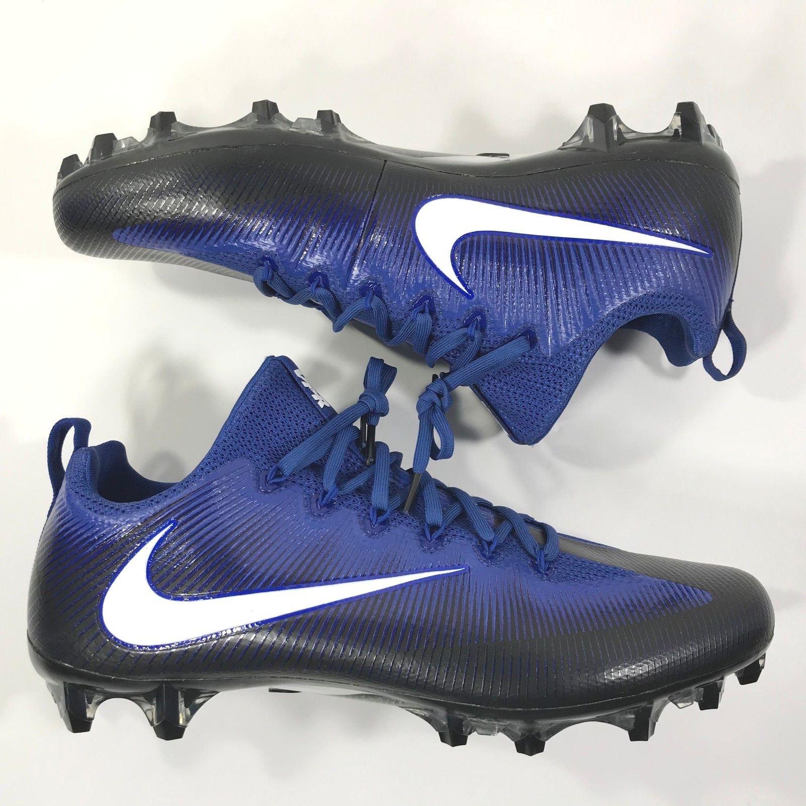277deb4bef69 $120 New Nike Vapor Untouchable Pro PF Football Cleats Blue 839924-014 Size  14