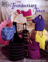 Trendsetting Totes 8 Designs Crochet Leaflet PATTERN/INSTRUCTIONS New - $3.57