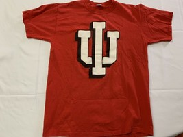 Vtg Indiana University Hoosiers Graphic T-Shirt Size L Made in USA Russe... - $17.10