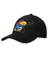 Zephyr Kansas Jayhawks College Covert Custom Stretch Hat KANCVC00 BLK Black - £19.13 GBP