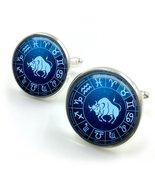 Taurus Cufflinks| horoscope cufflinks| zodiac cufflinks| Taurus star sig... - $12.99