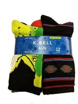 K Bell Boys 12 pair Crew Socks Wild Lime Assortment - $16.99