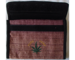 Hemp Wallet Checkbook 4 Slot Zipper Compartment Pen Holder Eco Marijuana Leaf