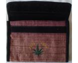 Hemp Wallet Checkbook 4 Slot Zipper Compartment Pen Holder Eco Marijuana Leaf