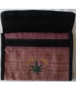 Hemp Wallet Checkbook 4 Slot Zipper Compartment Pen Holder Eco Marijuana... - $19.99