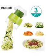 Handheld Spiralizer Vegetable Slicer, 3 in 1 Heavy Duty Veggie Spiral Cu... - $18.87