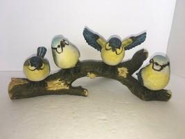 Vintage 4 Bluebirds On A Limb - $30.15