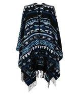7 Seas Republic Women's Aztec Inspired Tasseled Ruana Wrap  - $21.99