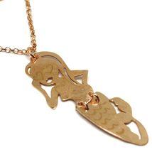 Long Necklace 70 cm, Silver 925, Pendant Mermaid, Stars Marine, le Favole image 3