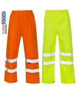 Mens Hi Vis Trousers Waterproof Visibilty Viz Over Reflective Safety Wor... - $10.06+