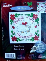 "Plaid Bucilla #84466 Baby's First Christmas 5"" x 5"" Counted Cross Stitch... - $8.77"
