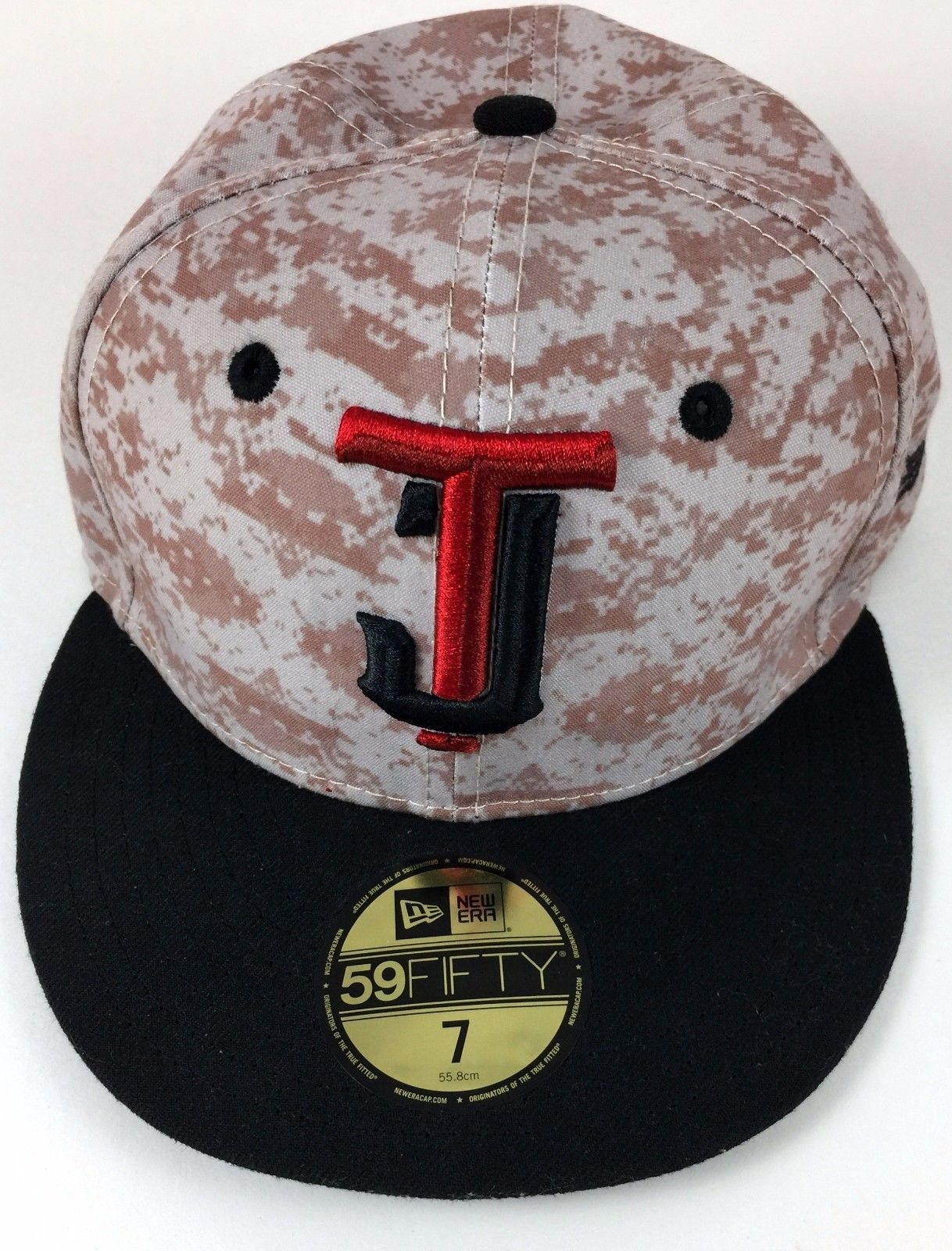 Tijuana Toros Fitted Hat New Era 59 Fifty Baseball TJ Camo Tijtor YOUTH Size 7