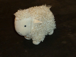 Multipet International Stuffed Plush Cream Sheep Lamb Curly Fur 2009 squ... - £17.51 GBP
